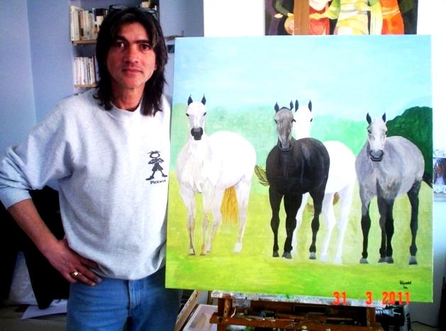 4. cavalli, tempere su tela.jpg