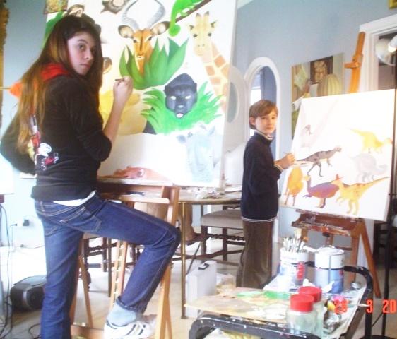 24.  allieva di 13 anni dipinge a olio.jpg