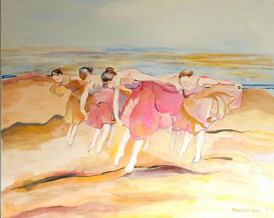 BALLERINE NEL DESERTO, 120x100 cm