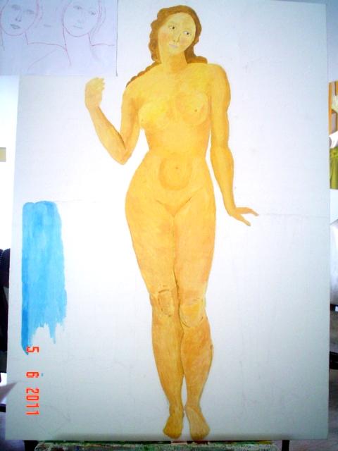 il nudo, ispirato a lucrezia di de chirico