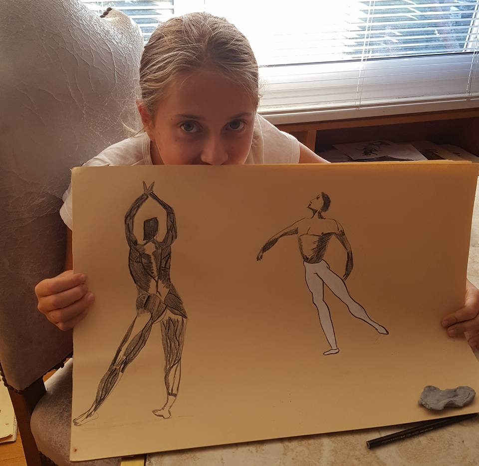 adele gangemi, 10 anni, studio della figura umana, 2017