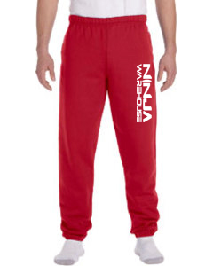 Youth/adult sweatpants . red with elastic at the ankles. (adult pants have pockets, youth pants do not) available in youth & adult. not available in toddler.  youth sizes available: s (6-8), m (10-12), L (14-16) adult sizes available: S, M, L  youth Price: $20+tax  adult price: $25+tax