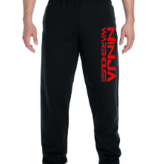 *NEW* Youth/adult sweatpants . black (with red logo) with elastic at the ankles. (adult pants have pockets, youth pants do not) available in youth & adult. not available in toddler.  youth sizes available: s (6-8), m (10-12), L (14-16) adult sizes available: S, M, L  youth Price: $20+tax  adult price: $25+tax