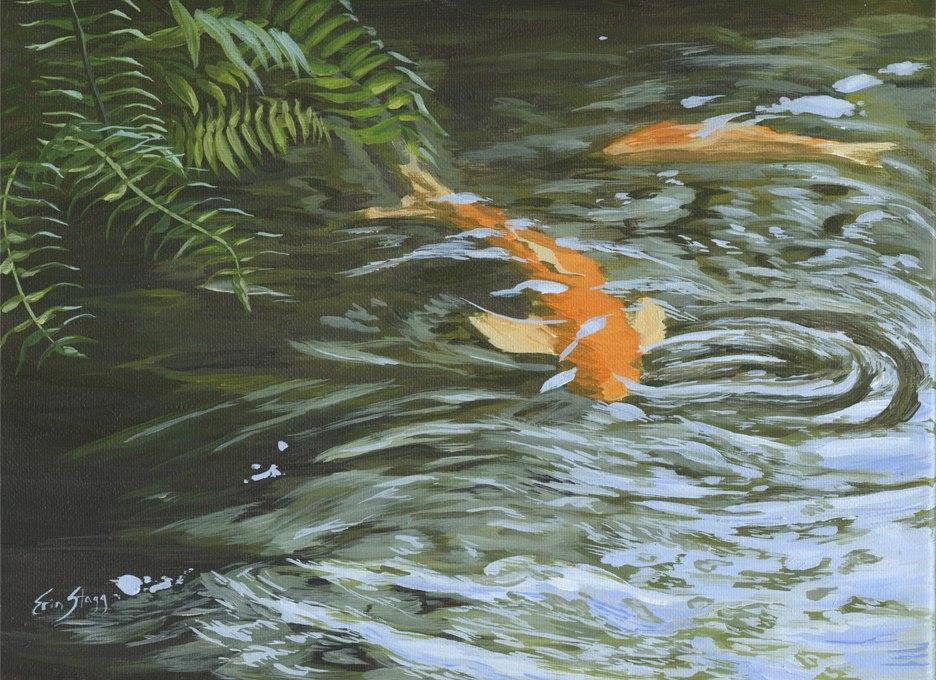 Beneath the Surface, 2017, acrylic on canvas 9 x 12