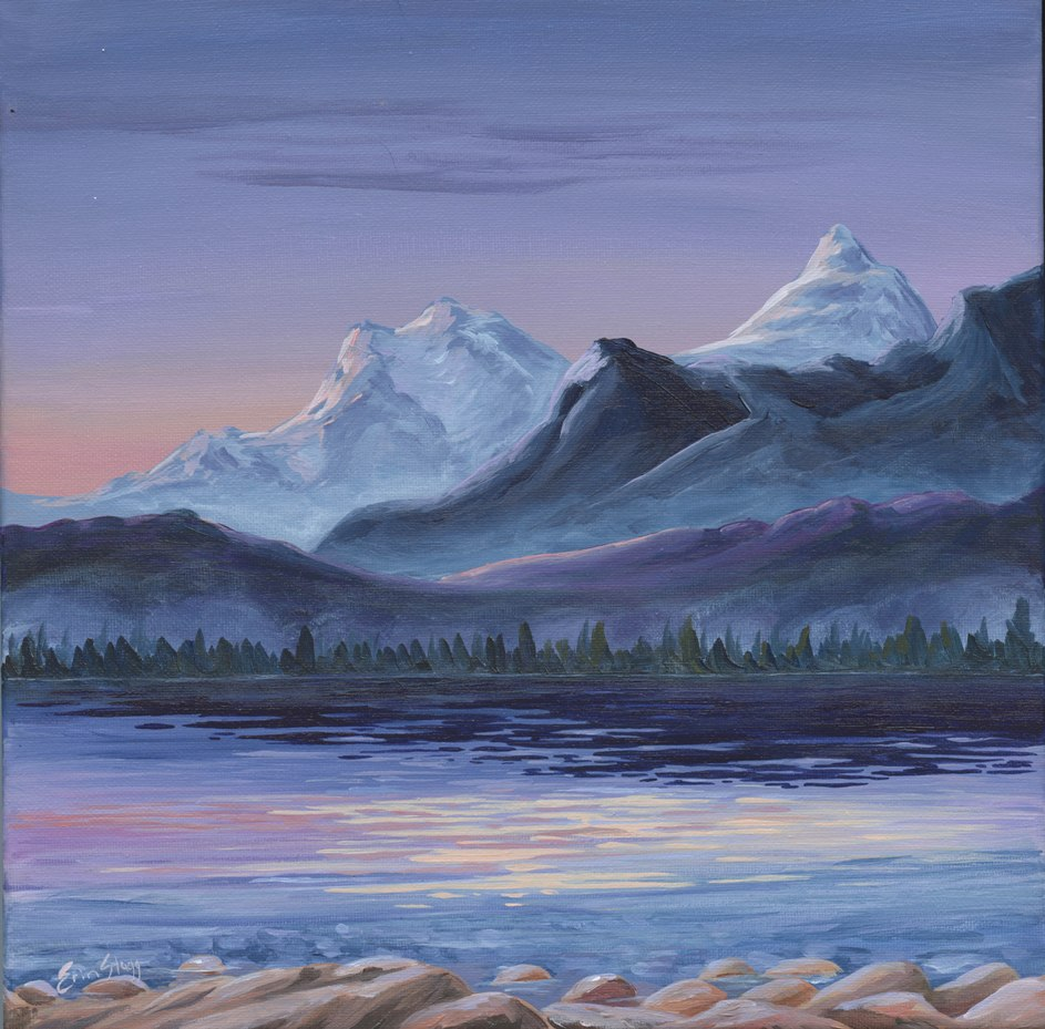Evening Light, 2017, acrylic on canvas, 12 x 12