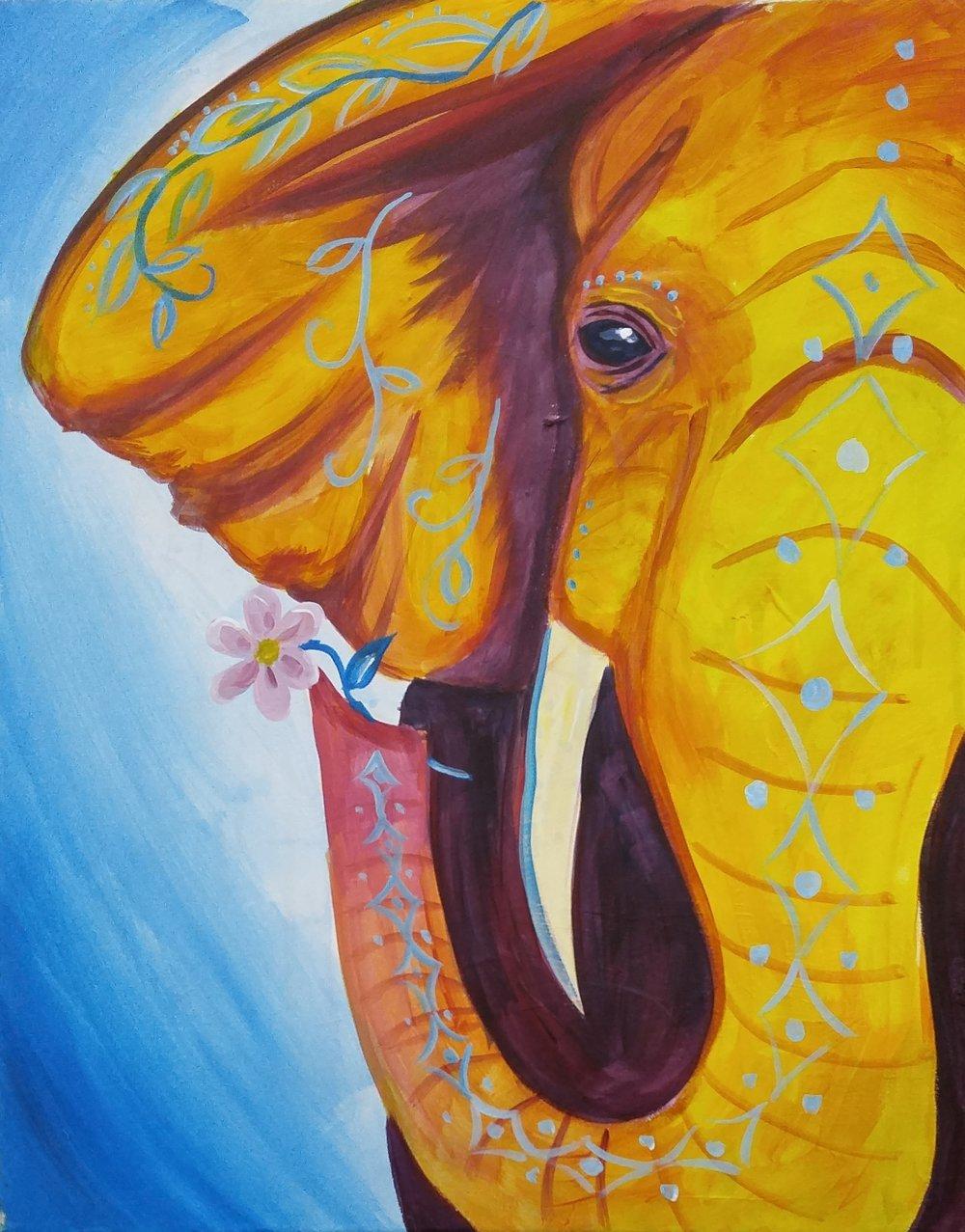 Funky Elephant - Level: Beginner, Time: 2 hrs