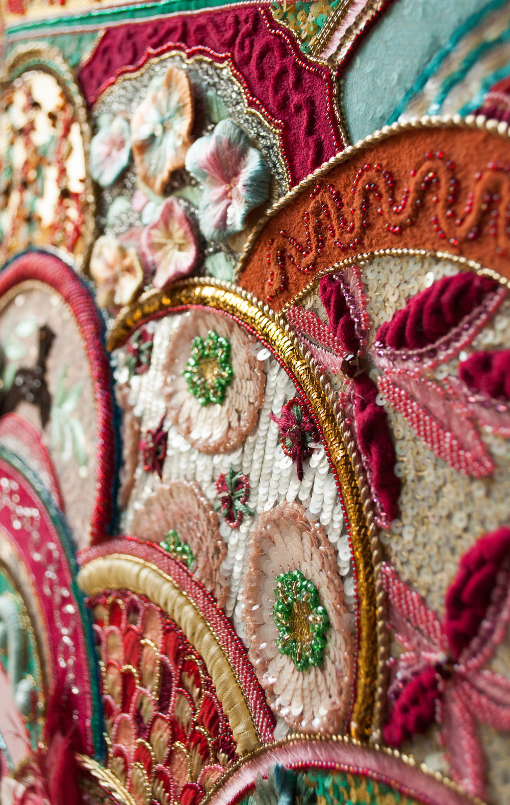 Study Luneville embroidery in France -