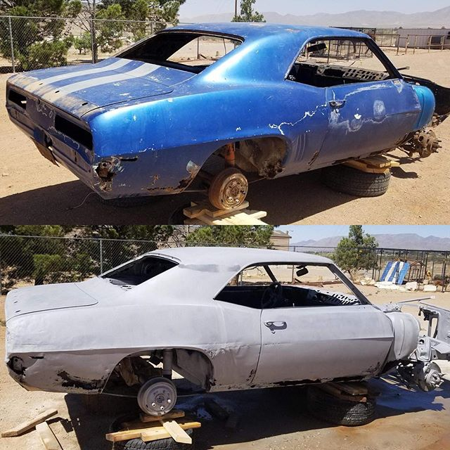 69' Camaro gonna be sweet when it's done.  #cleanblast #mediablasting #sandblasting  #concreteblasting #stuccoblasting #paintremoval #commercialwork #industrialwork #buildingrestoration #marine #lascruces #elpaso #newmexico #texas