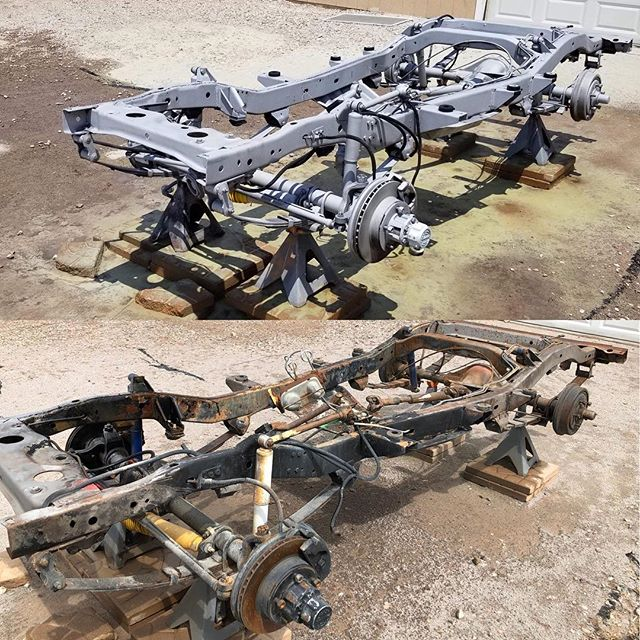 Jeep frame  Let us know if you need anything blasted!! #cleanblast #mediablasting #sandblasting  #concreteblasting #stuccoblasting #paintremoval #commercialwork #industrialwork #buildingrestoration #marine #lascruces #elpaso #newmexico #texas