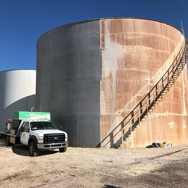 Blasted this big dog! Lid and stairs included.  #cleanblast #mediablasting #sandblasting  #concreteblasting #stuccoblasting #paintremoval #commercialwork #industrialwork #buildingrestoration #marine #lascruces #elpaso #newmexico #texas