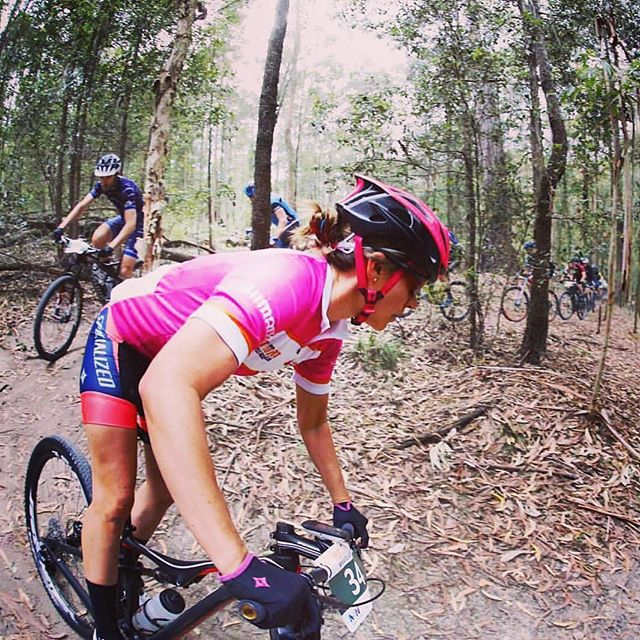 "Disaster averted for our girl @samarasheppard today. Whilst in the lead today, the group of riders that she was with got lost, ended up riding a few extra trails and hills before re joining the course.  Thanks to the @porttoportmtb crew and fellow competitors especially @em_parkes who corrected the situation in true ""fair play"" attitude.  We are proud that she can still wear the pink leaders jersey tomorrow for the final stage !  #mtb #stagerace #porttoportmtb #iamspecialized #ridehardhavefun  #pleingaz #swiftwick #fromskratch"