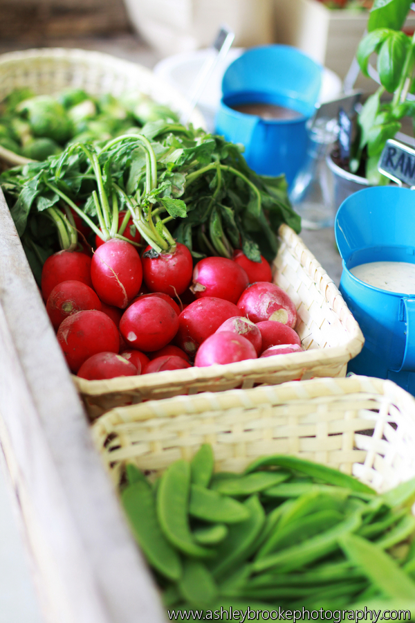 Guests enjoyed fresh fruits and vegetables from local farms, along with local cheeses