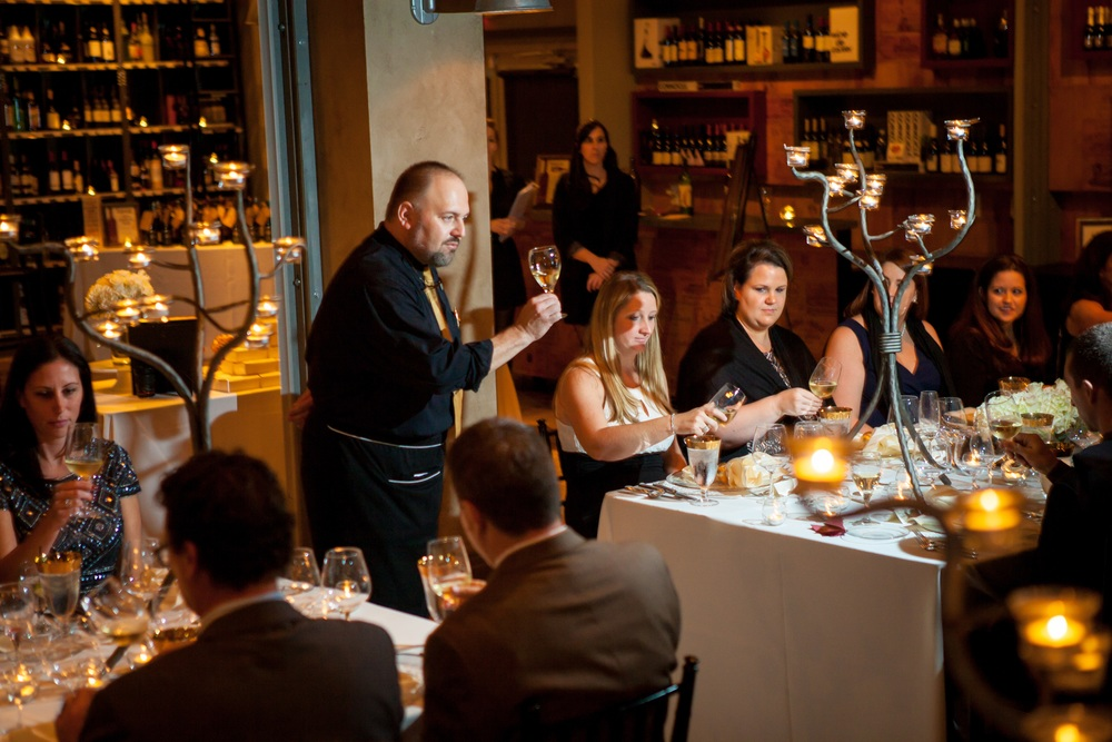 Guests enjoyed a four course menu with wine pairings, with each course presented by the chef and sommelier