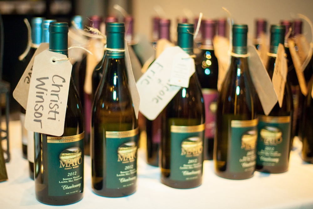Guests received bottles of wine from the couple's favorite Napa vineyard as favors