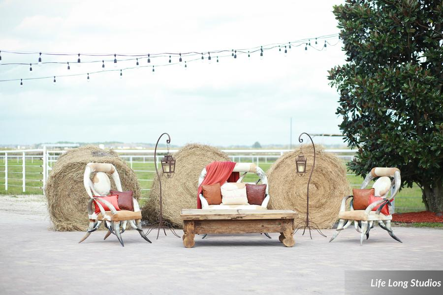 winsor event studio hay bale wedding country rustic