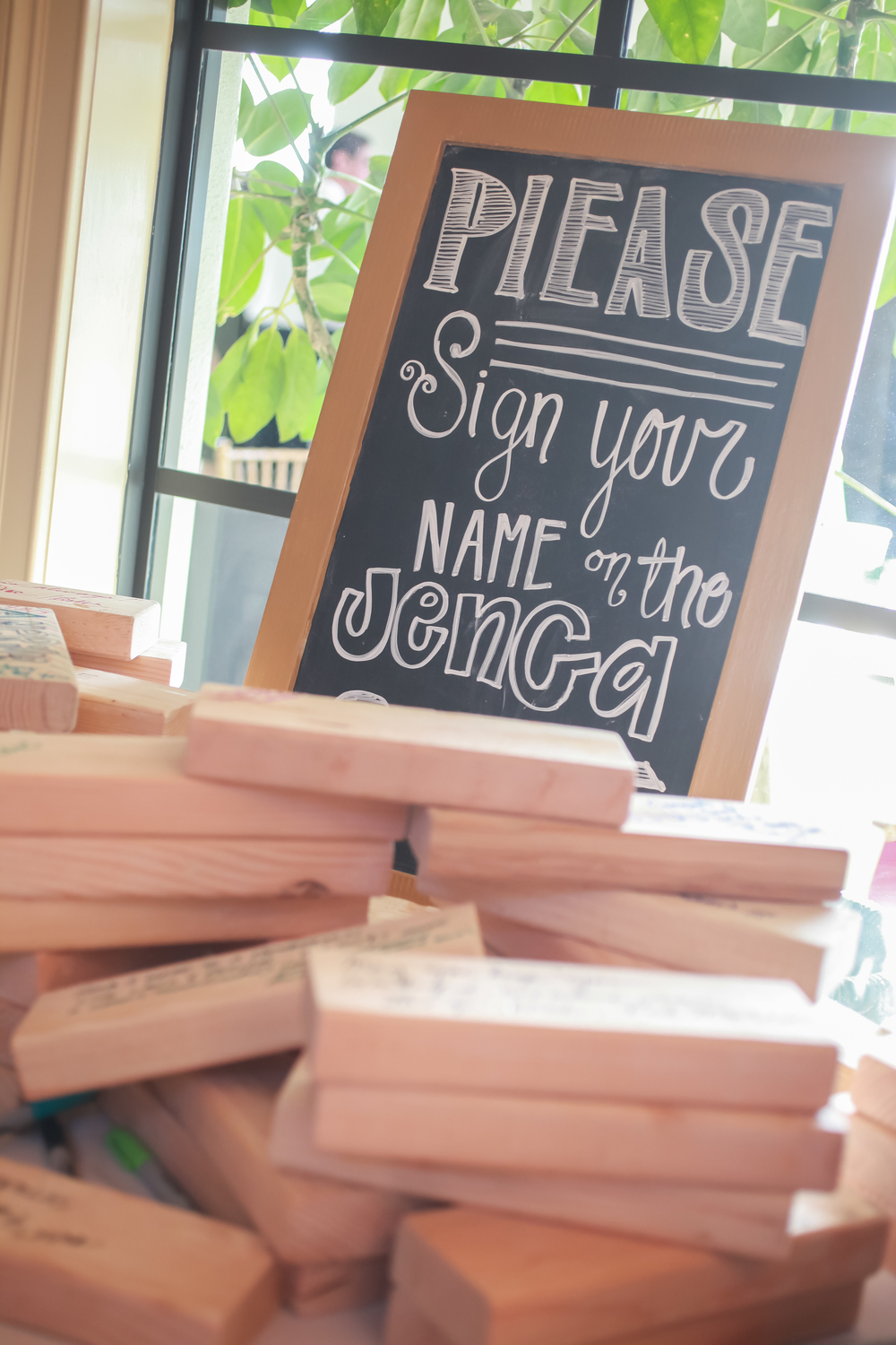 winsor event studio jenga guestbook wedding