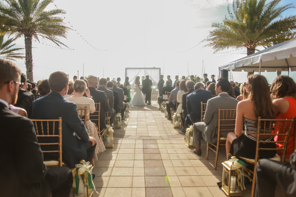 winsor event studio westshore yacht club wedding outdoor ceremony