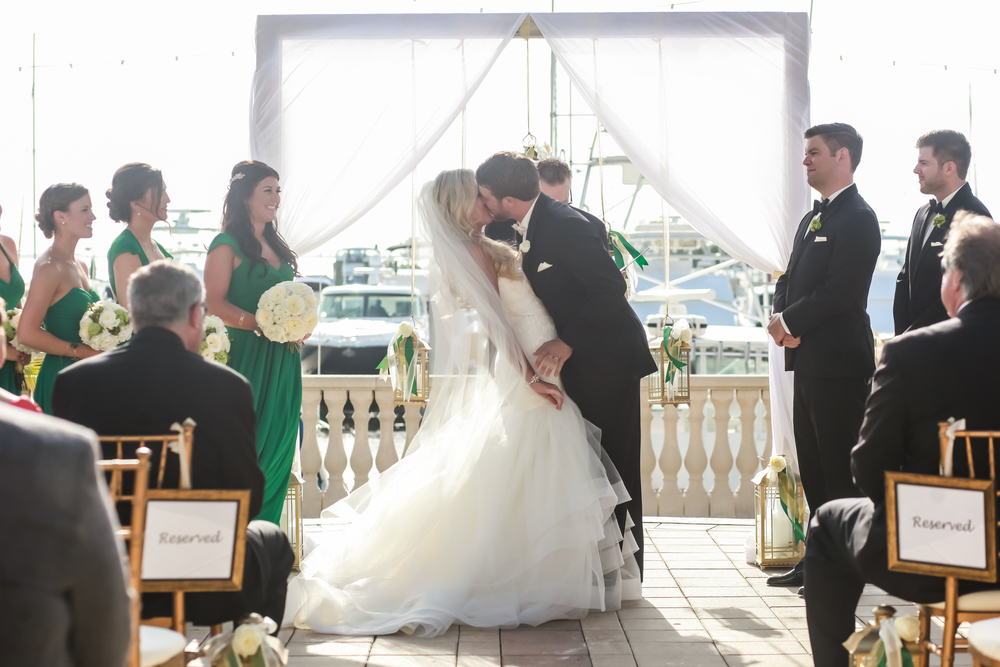 winsor event studio wood arch draping ceremony