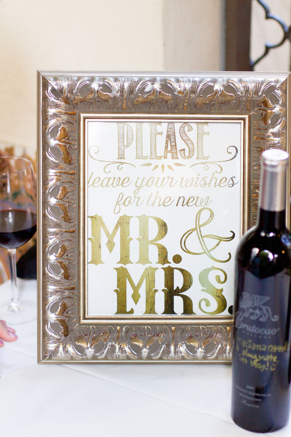 winsor event studio wine bottle guest book wedding