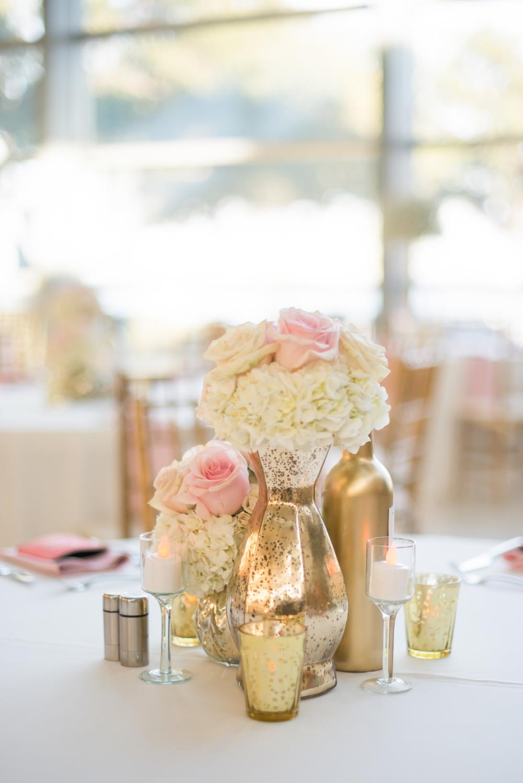 winsor event studio gold blush centerpiece wedding