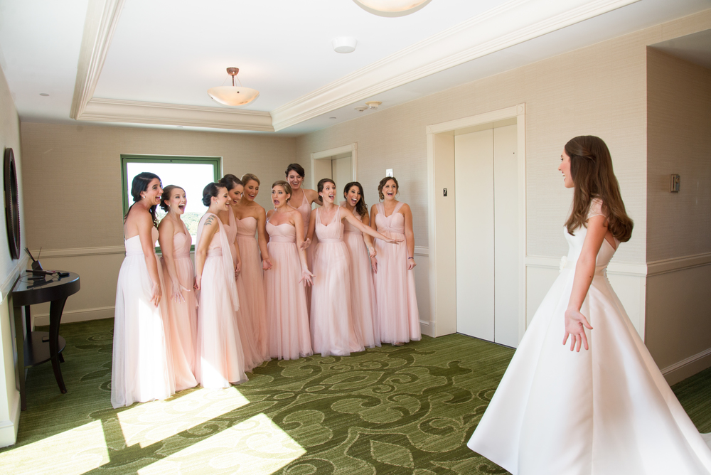 winsor event studio bridesmaids first look wedding