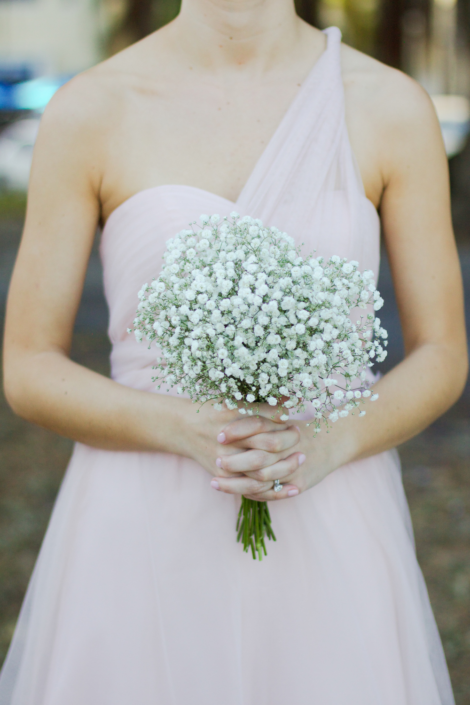 winsor event studio baby breath bouquet blush
