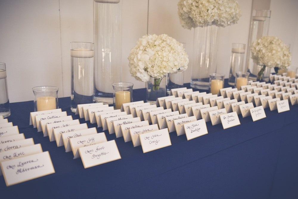 winsor event studio wedding escort card display