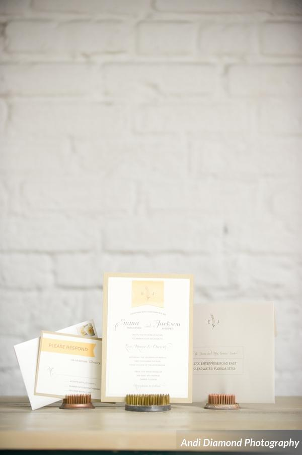 winsor event studio brew beer wedding invitation stationery