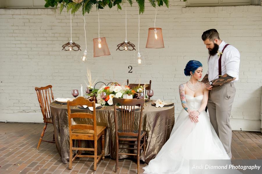 winsor event studio industrial chic wedding ybor city state museum