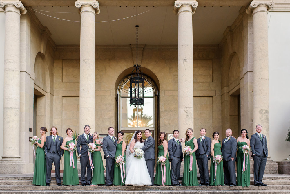 winsor event studio emerald green grey silver wedding party