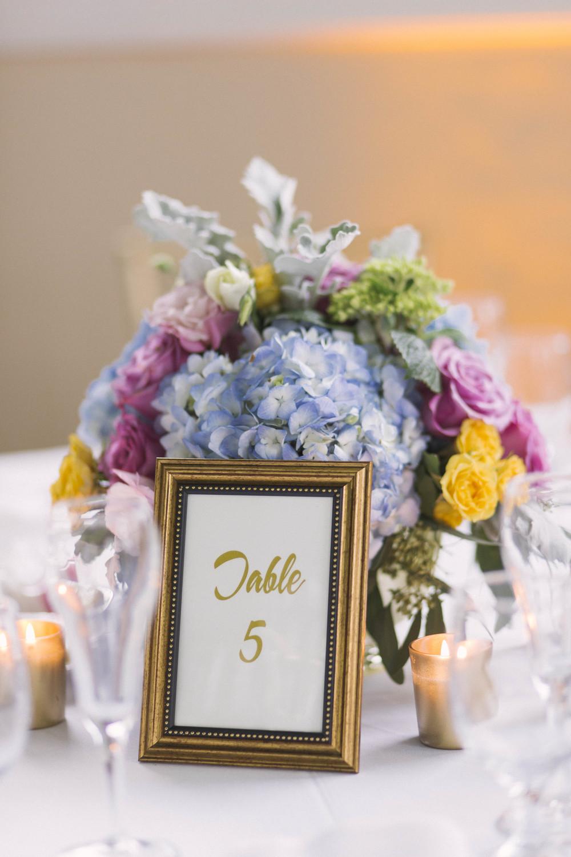 winsor event studio wedding pastel centerpiece