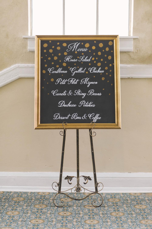 winsor event studio chalkboard menu wedding