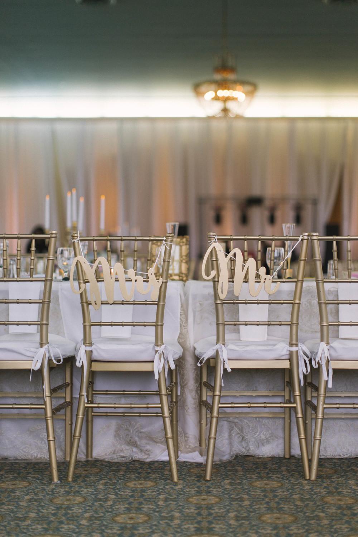 winsor event studio bride groom chair signs wedding