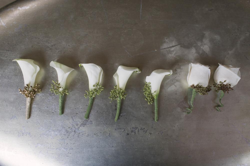winsor event studio calla lily boutonniere