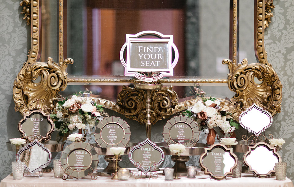 winsor event studio mirror seating chart wedding