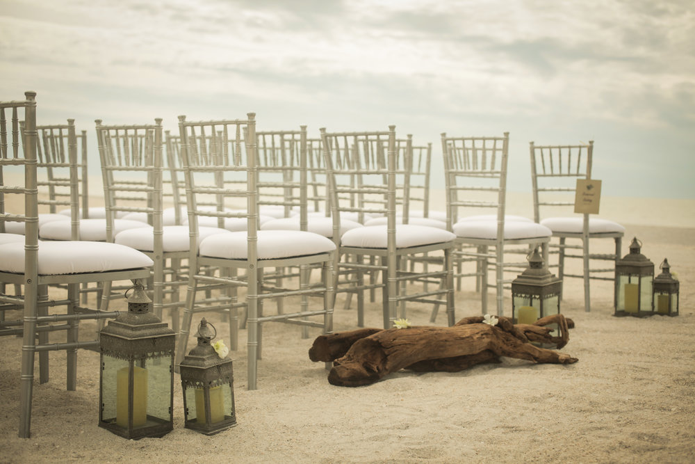 winsor event studio driftwood lanterns aisle wedding