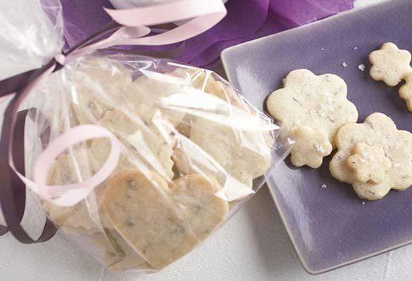 Lavender Fleur de Sel Shortbread Cookies by Leite's Culinaria