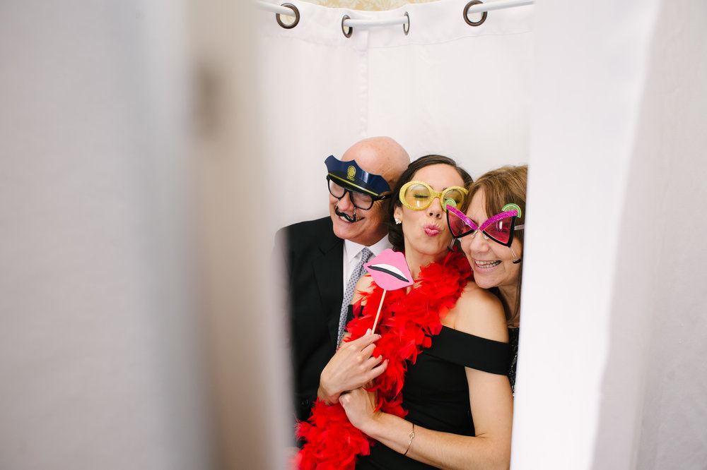 After dinner, guests hit the photo booth and dance floor!
