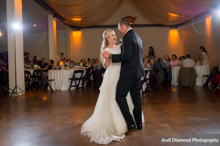 The couple's love for each other was so obvious during their first dance.