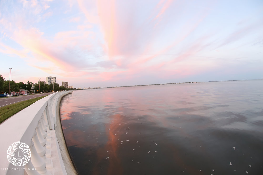 A sunset over the water, a Tampa necessity!