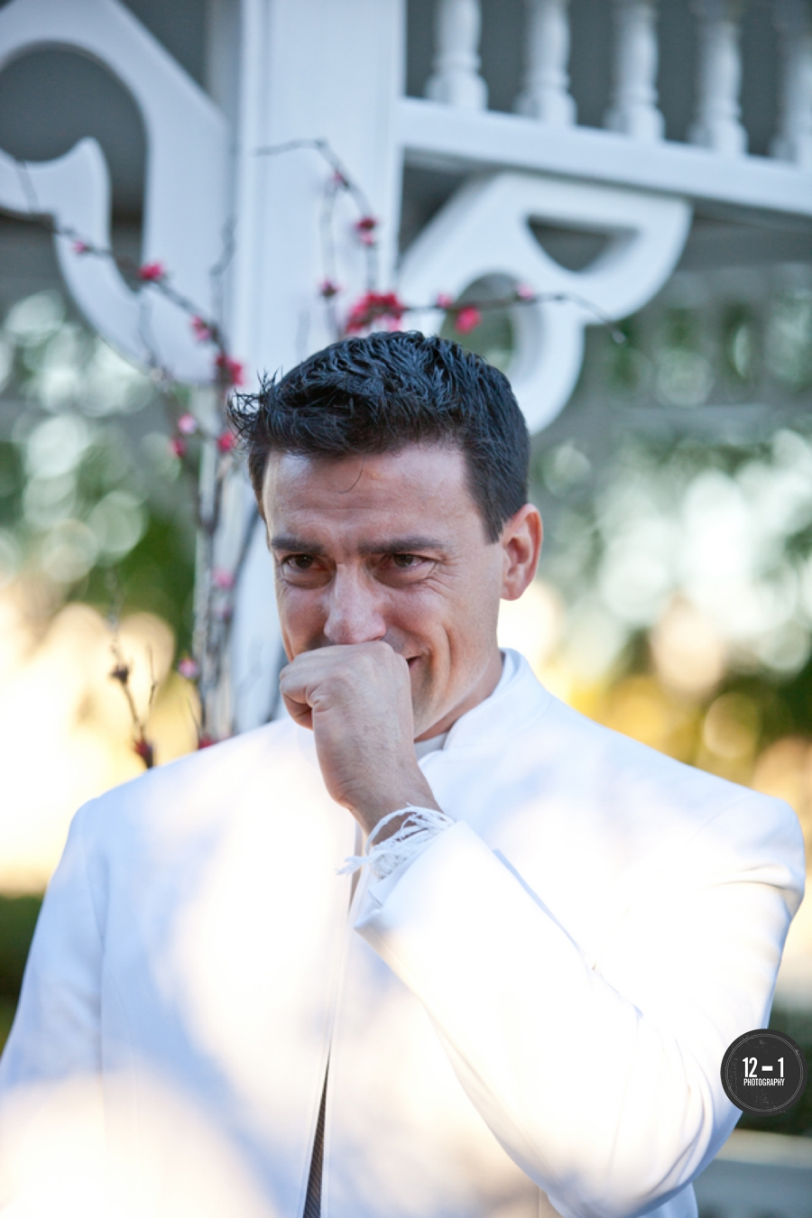 One of our favorite moments, when the groom saw his bride for the first time and teared up!