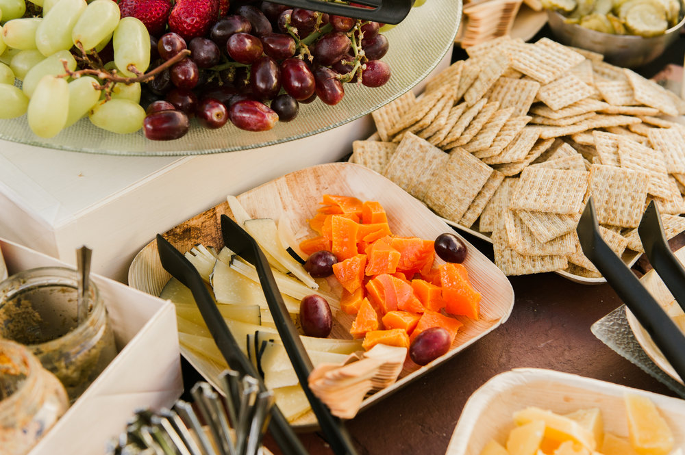 A bountiful charcuterie display also included fruit, veggies, crackers, and cheese for guests to enjoy.