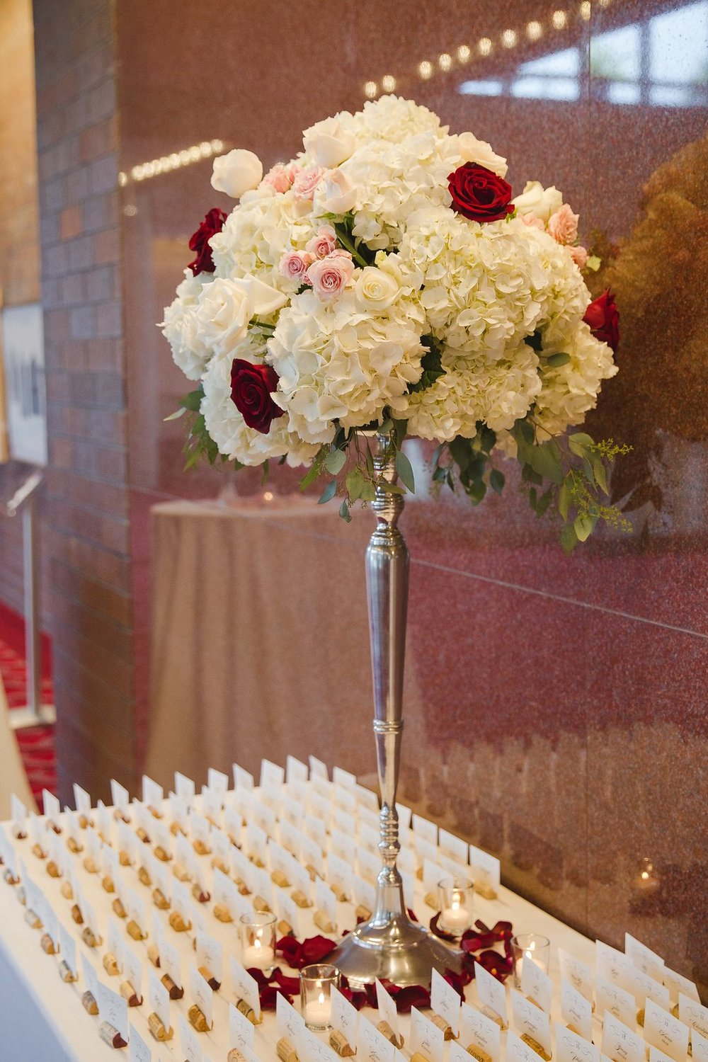 Wine-inspired details were found throughout the event, including cork escort cards and a wine bottle guestbook.