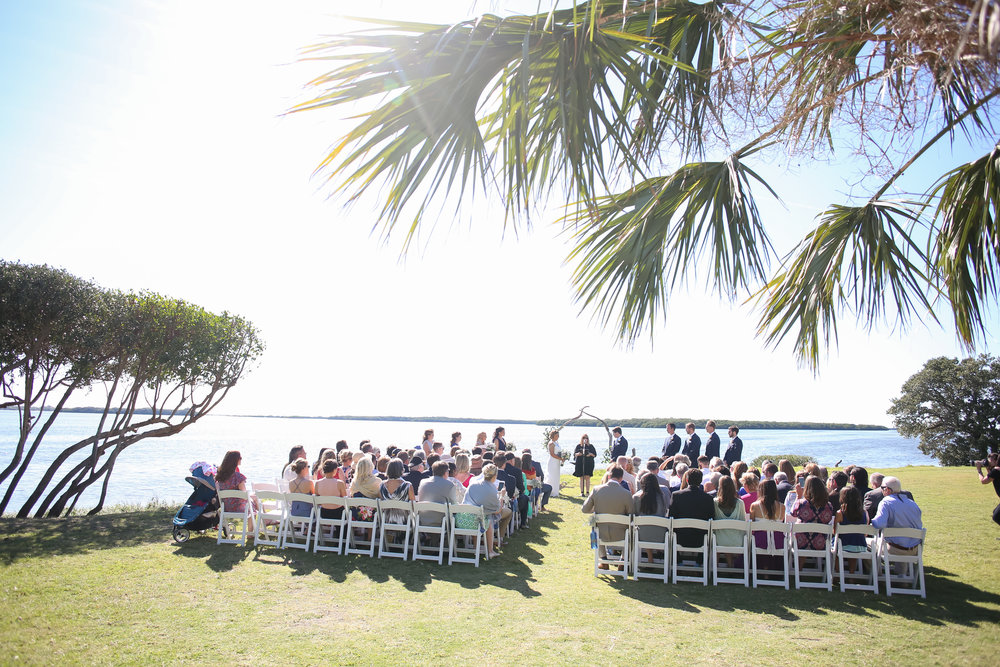 Guests enjoyed views of Tampa Bay as the couple were married.
