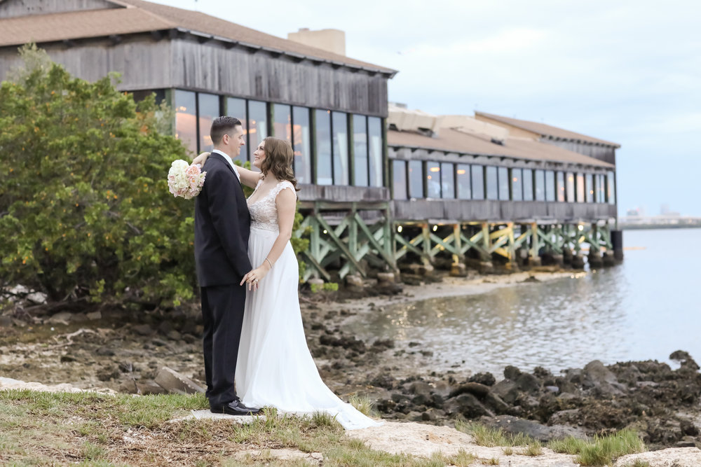 A waterfront venue is perfect for a bride who wants to incorporate Floridian elements.
