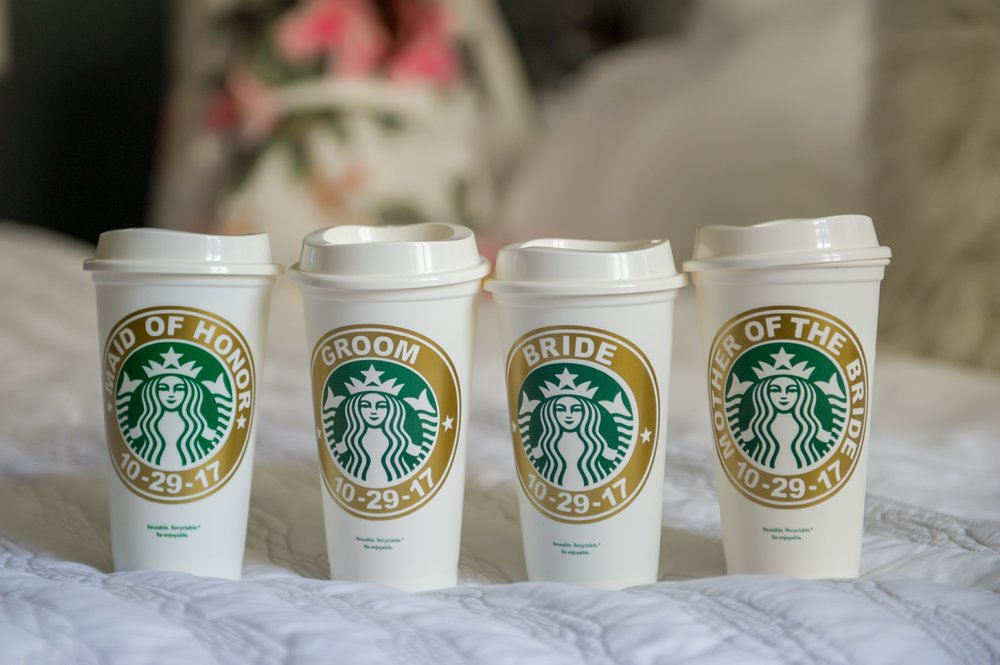 Personalized, reusable Starbucks cups made for a fun and eco friendly gift!