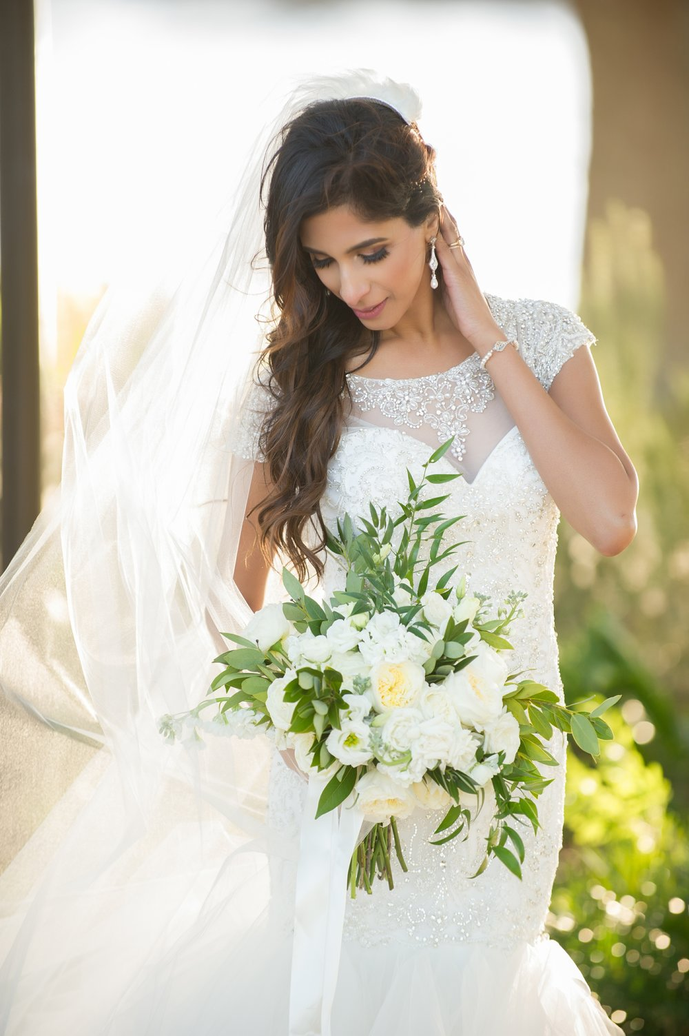As a professional model, the bride was seriously working her bridal portraits! Yowza!!!