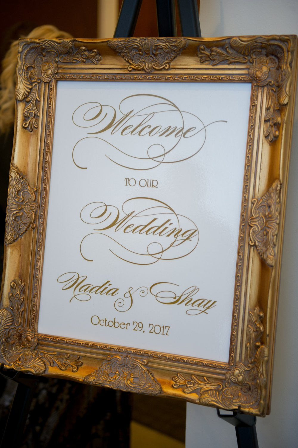 Opulent gold details gave a hint to the chic decor found in the reception.