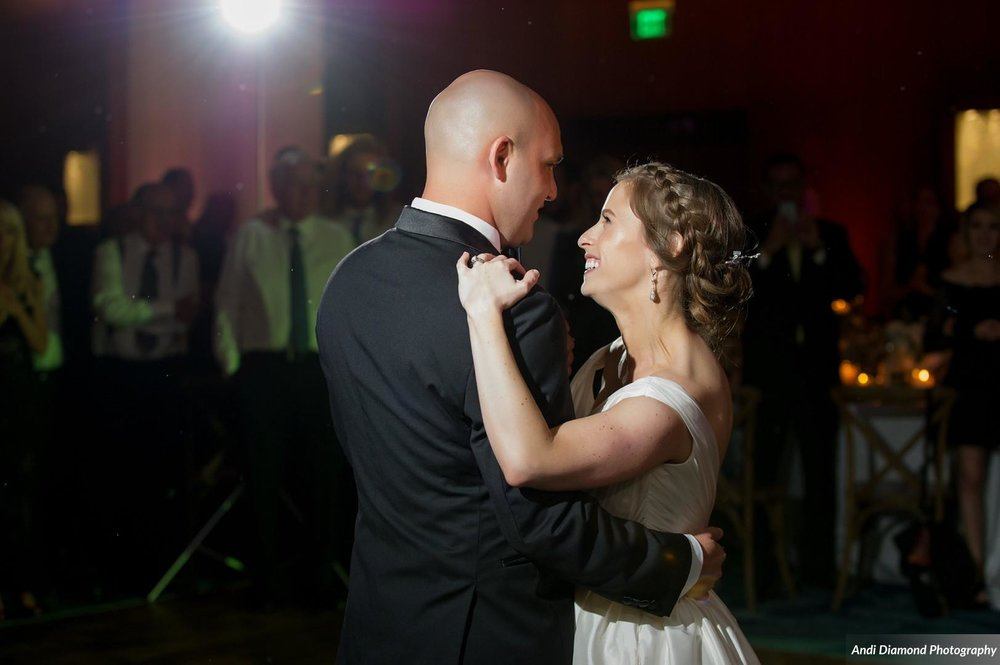 The couple's first dance as husband and wife was shared with their 250 guests, most of whom traveled from across the country and even across continents to attend.
