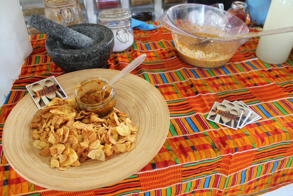 Our Piri Piri dip we made earlier and the Piri Piri marinade we made on the day